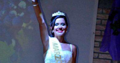 Agustina, la bella joven que representa a la Marzolina