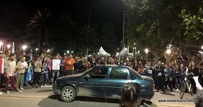 """Poca convocatoria tuvo el """"ruidazo"""" en Alvear"""