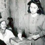 1er voto femenino en Alvear