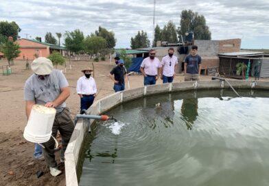 Marinelli recorrió la obra del acueducto ganadero