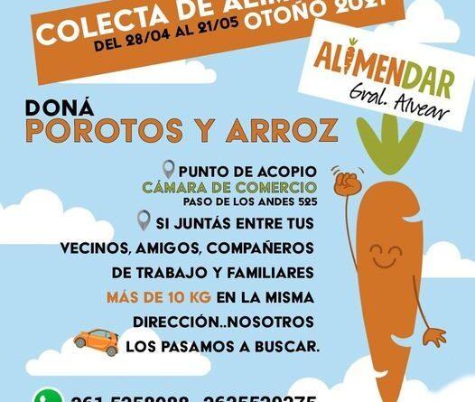 """""""AlimenDar"""" lanzó una campaña para recolectar alimentos"""